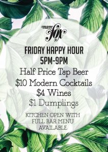Maeve Fox Friday Happy Hour Richmond