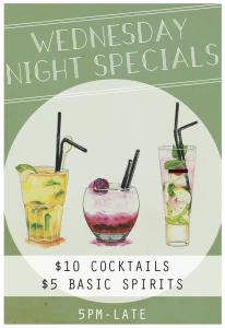 Maeve Fox Wednesday Drink Specials